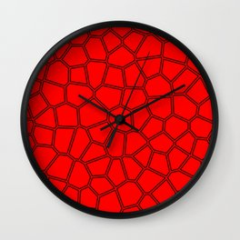 Red shell design Wall Clock