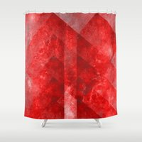 rothko Shower Curtains featuring Ruby Nebulæ by Aaron Carberry