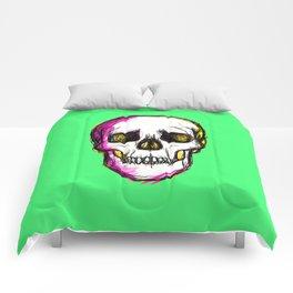 Pop Skull - green Comforters