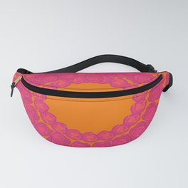 Pink Rose Wreath Fanny Pack