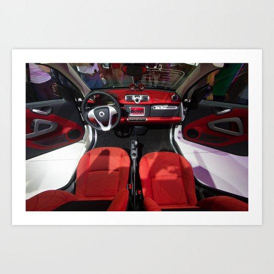 Smart ForTwo Turbo Cabrio Tritop Inside Art Print