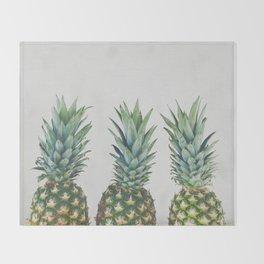Pineapple Trio Throw Blanket