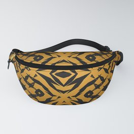Yellow tribal shapes pattern Fanny Pack