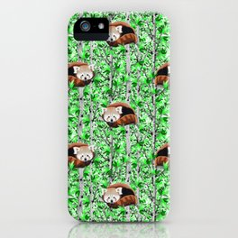 Red panda's in tree's iPhone Case