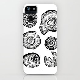 Tree stumps iPhone Case