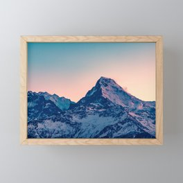 Beauty of the Snowy Himalaya Mountains in Nepal Framed Mini Art Print