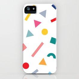 geometric funfetti iPhone Case
