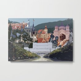 Romania Collage Metal Print