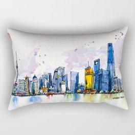 20161009a Shanghai Rectangular Pillow