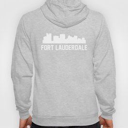 Fort Lauderdale Florida Skyline Cityscape Hoody