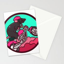 motorcycle, motorcycle driving Stationery Cards