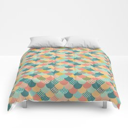Patchwork Mermaid Scales Comforters