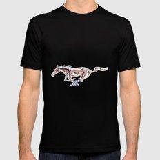 vintage teal Mustang .... Mens Fitted Tee X-LARGE Black