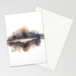 Mountains Reflected On A Lake Stationery Cards