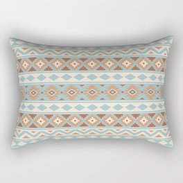 Aztec Essence Ptn IIIb Blue Crm Terracottas Rectangular Pillow