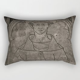Monk mural Rectangular Pillow