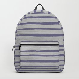 Violet gray silver watercolor brushstrokes stripes Backpack