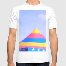 Circus tent White Mens Fitted Tee MEDIUM