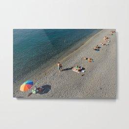 Ocean beach Print, Travel wall decor, French Riviera beach print, Beach Photography, Fine art print Metal Print