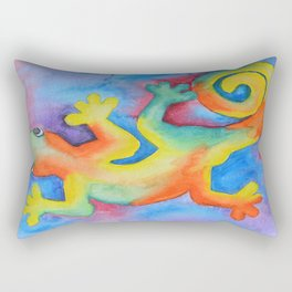 Tye Dye Gecko Rectangular Pillow
