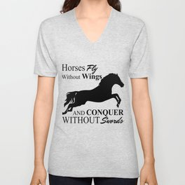 Horses Fly Without Wings Unisex V-Neck
