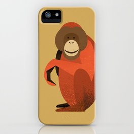 Whimsy Orang Utan iPhone Case