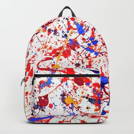 Abstract in Primary Colors Backpack