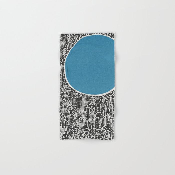 Abstract Blue Lake Hand & Bath Towel