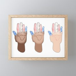 trans pride hands Framed Mini Art Print