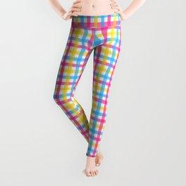 Queer Plaids - Pansexual Gingham Leggings