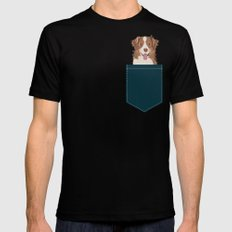 Hollis - Australian Shepherd gifts for dog owners pet lovers dog people gifts for dog person LARGE Black Mens Fitted Tee