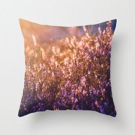 golden heather Throw Pillow