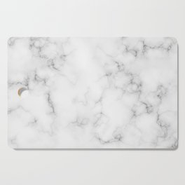 The Perfect Classic White with Grey Veins Marble Cutting Board