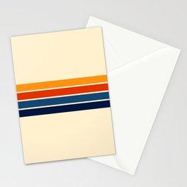 Classic Retro Stripes Stationery Cards
