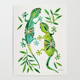Geckos – Green Palette Poster