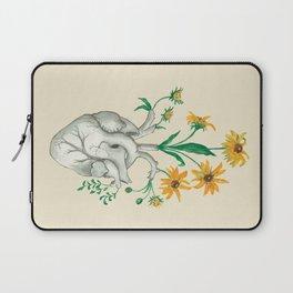 Floral Heart: Sunflower Human Anatomy Laptop Sleeve