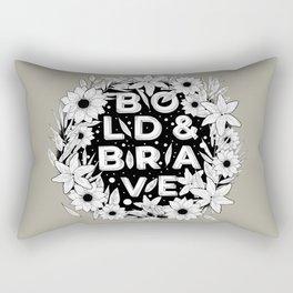BOLD & BRAVE Rectangular Pillow