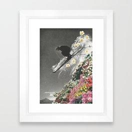 Spring Skiing Framed Art Print