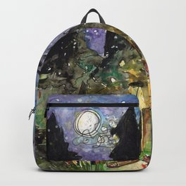Campfire Under a Full Moon Backpack