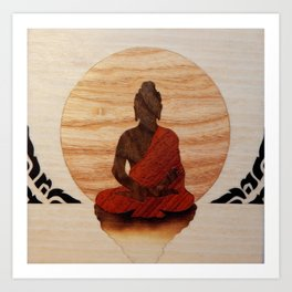Buddha marquetry Art Print