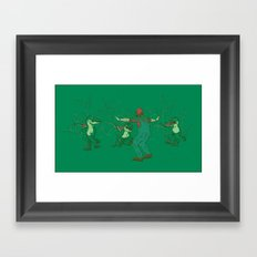 Yoshi Training Framed Art Print