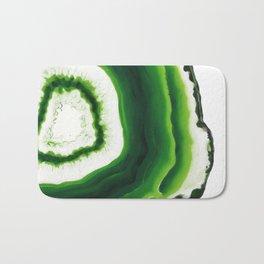 Green Agate Geode slice Bath Mat