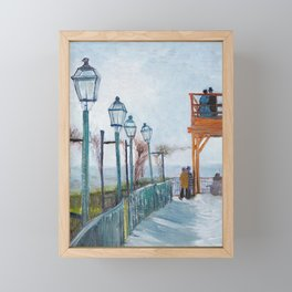 Montmartre by Vincent Van Gogh Framed Mini Art Print