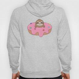 Kawaii Cute Sloth Donut Hoody