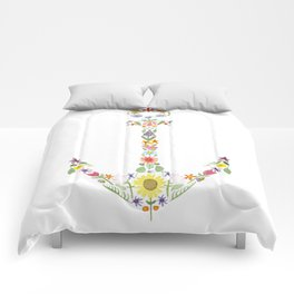 Anchor Floral Watercolor Comforters