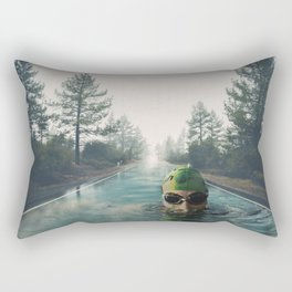 Swimming in the forest Rectangular Pillow