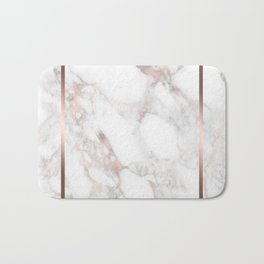 Luxury Rose-gold Faux Marble Bath Mat