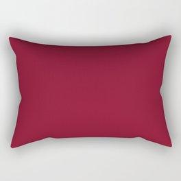 Tamarillo Red Colour Rectangular Pillow