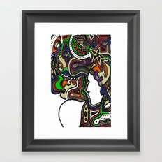 Muted Color Techno Framed Art Print