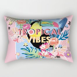 Toucan Tropical Vibes Rectangular Pillow